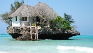 Zanzibar vakantie. The rock restaurant